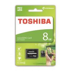 Κάρτα Μνήμης MicroSDHC Toshiba M102 8GB Class4 + Adaptor